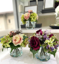 Load image into Gallery viewer, Roses & Hydrangeas in Curve Vase