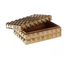 Load image into Gallery viewer, GOLD FINISH PYRAMID STUD TRINKET BOX