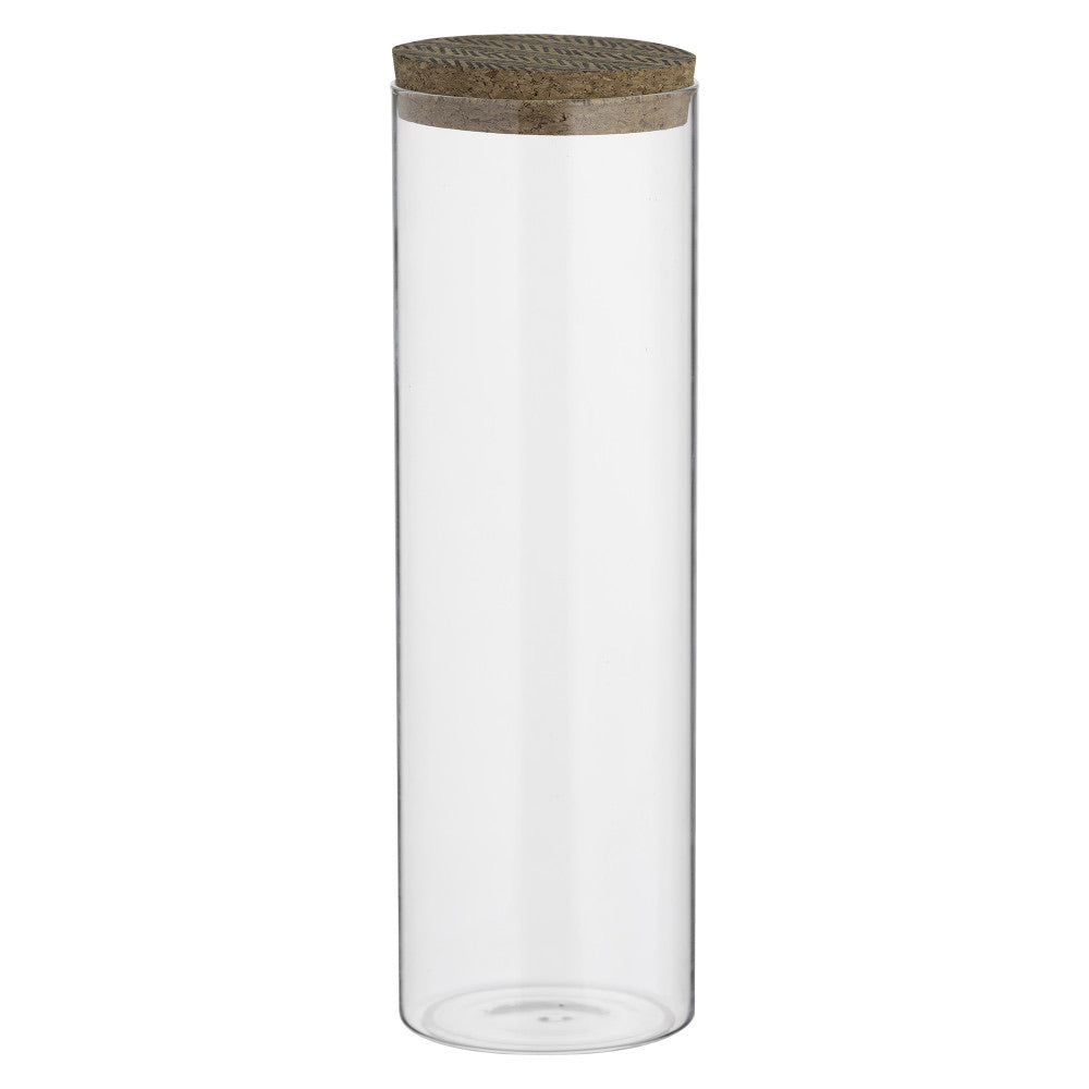 Monochrome Storage Jar Cork Lid