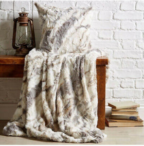 Luxurious Faux Fur Throw 200x200cm