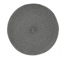 Load image into Gallery viewer, Set of 4 Round Woven Metallic Placemat