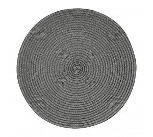 Set of 4 Round Woven Metallic Placemat