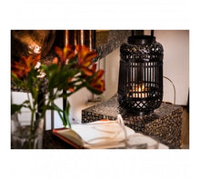 Load image into Gallery viewer, Hanoi Lantern Black Bamboo / Glass Insert