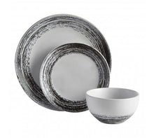 Load image into Gallery viewer, 16pcs Black and White Dinner Set