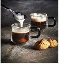 Load image into Gallery viewer, Double Wall Set of 2 Espresso Glass Cups 9cl