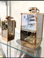 Load image into Gallery viewer, Copper Lantern With Led Micro Lights