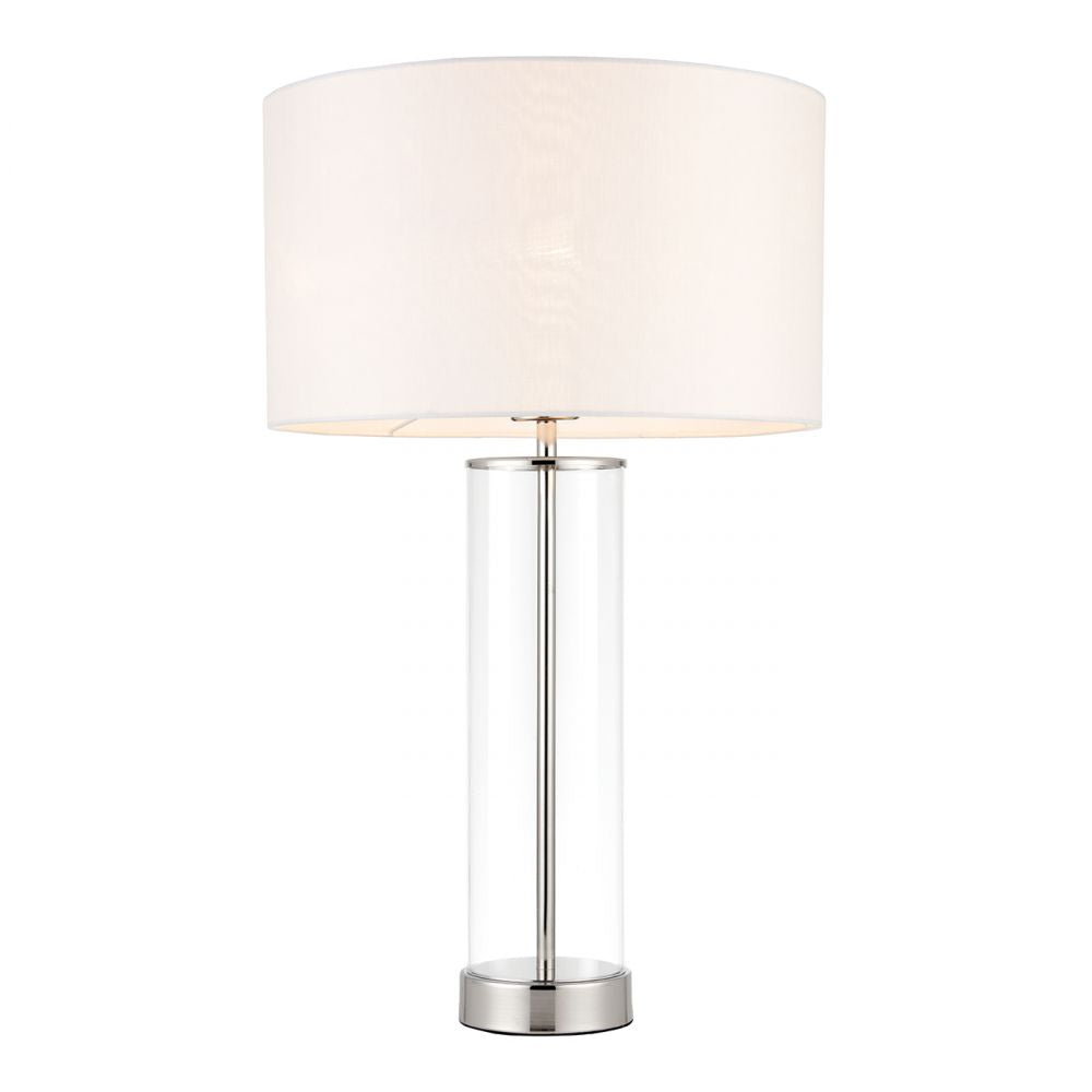 Touch Table Lamp Bright Nickel Finish