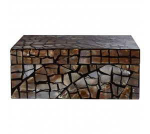 Complements Crackle Mosaic Square Box