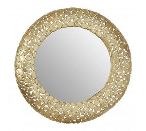 Pebble Effect Round Wall Mirror