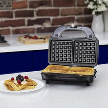 Load image into Gallery viewer, Tower 900W 3 in 1 Deep Fill Sandwich Maker - Stainless Steel