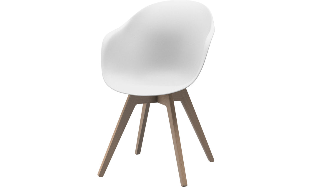 [Adelaide - D064] silla Adelaide, blanco/roble