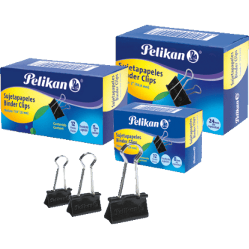 Pelikan Fold Back Clips - Pack of 12