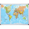 Bi-Office World Map Board - 90x120cm