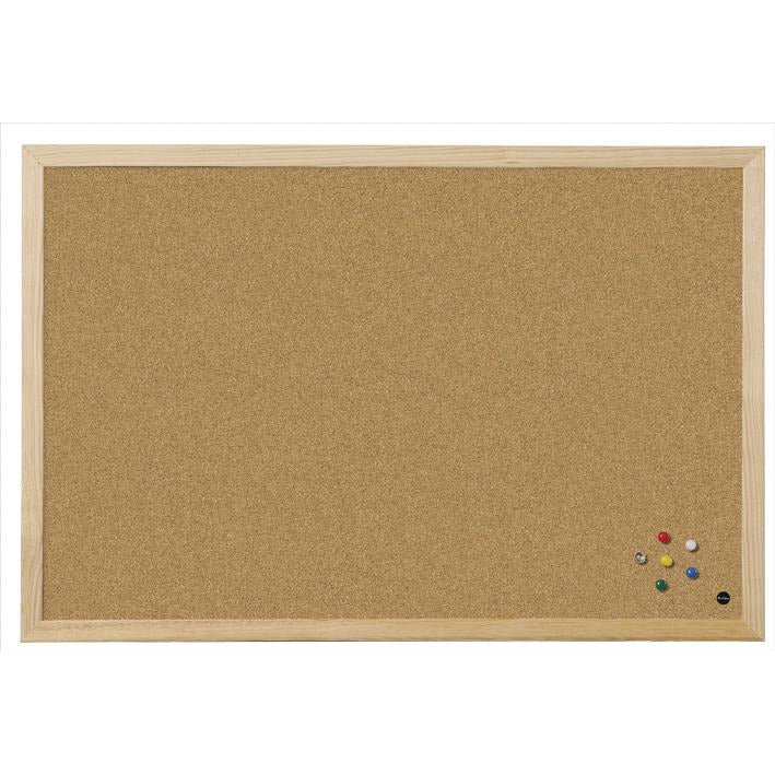 Bi-Office Wood Frame Cork Board