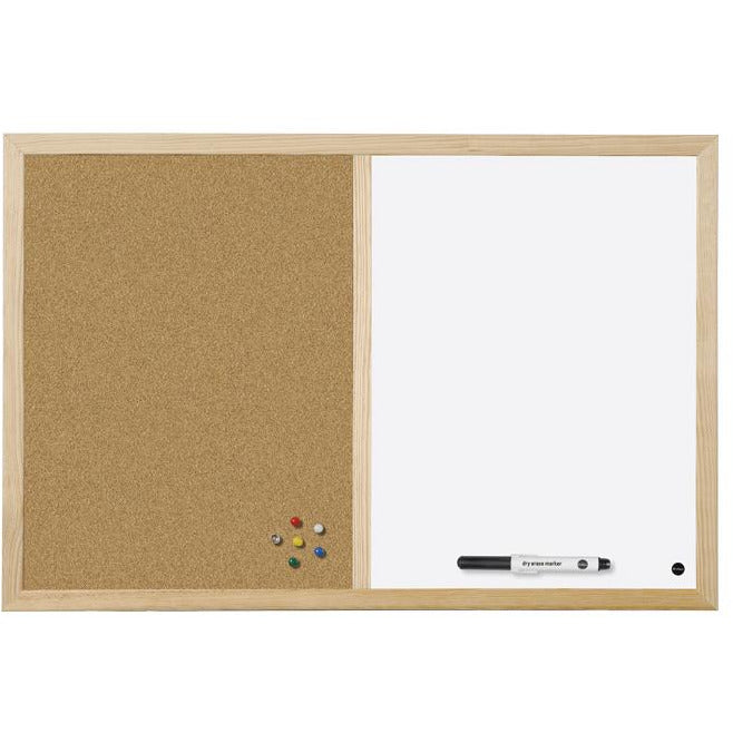 Bi-Office Combo White + Cork Board