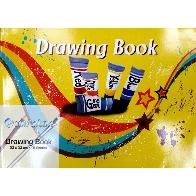 SinarLine Drawing Book 23x33 cm - 18 sheets