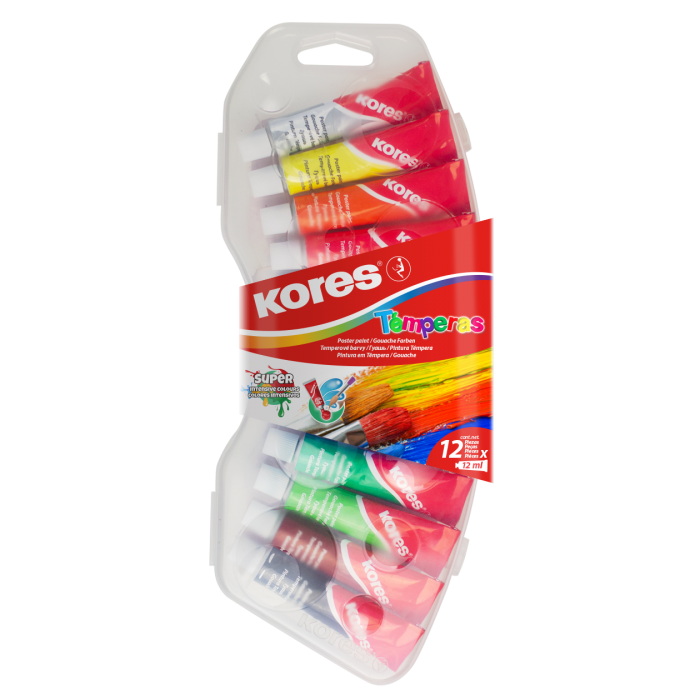 Kores Tempera Colors / 12 Tubes of 12ml