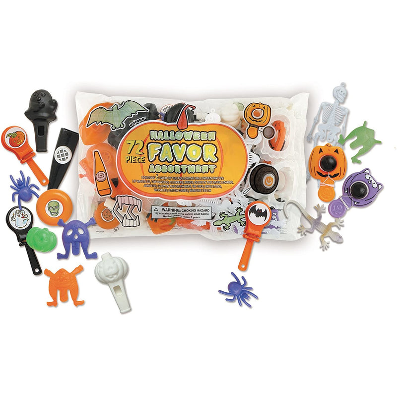 Unique Halloween Favor Assortment - 72pc