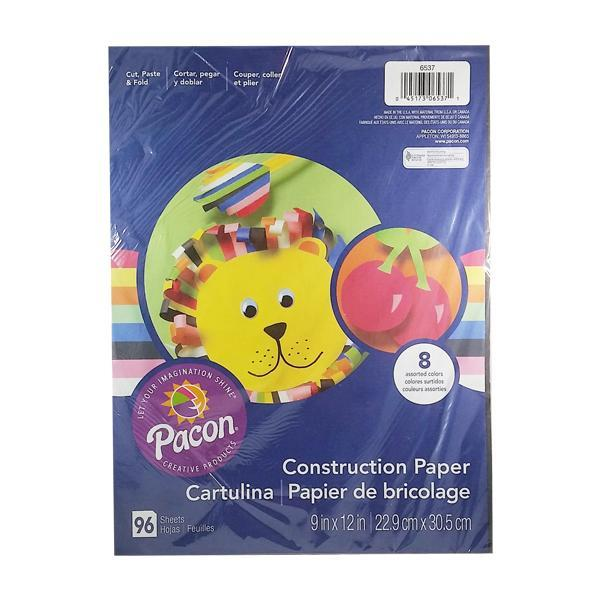 Pacon Rainbow Construction Paper - 96 Sheets