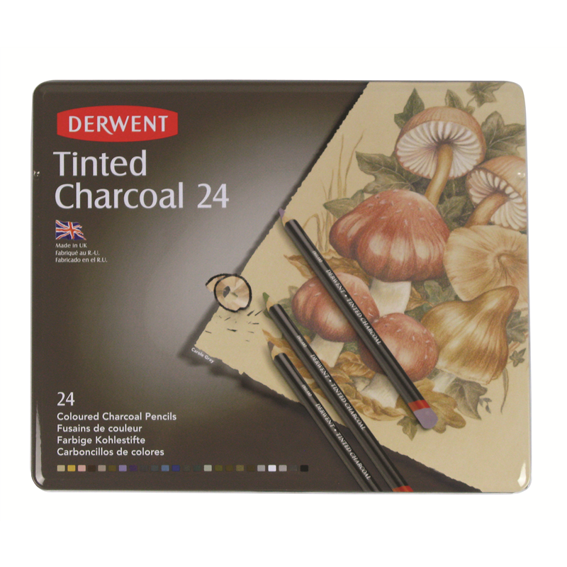 Derwent Tinted Charcoal Pencils - Set