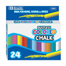 Bazic Dustless Assorted Color Chalk - Pack of 24