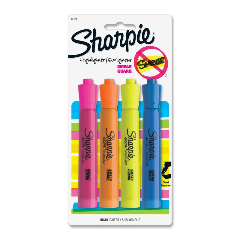 Sharpie Accent Tank Highlighters - Set of 4