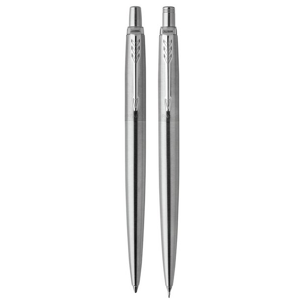 Parker Jotter Stainless Steel Set - Ballpoint Pen + Mechanical Pencil