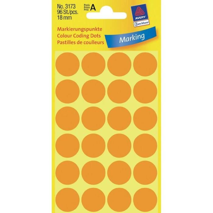 Zweckform Color Coding Dots 18mm - Pack