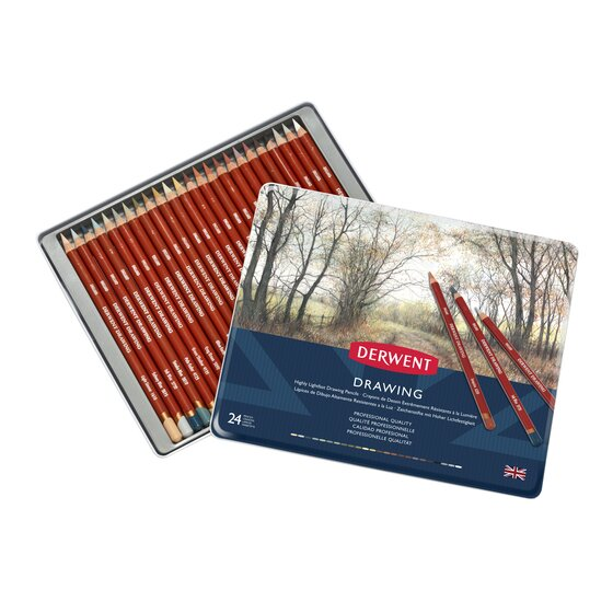 Derwent Drawing Coloring Pencils - Set
