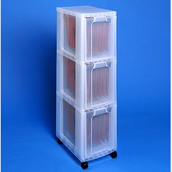 Really Useful Boxes® Storage Tower with 3 x 25 Liters Drawers