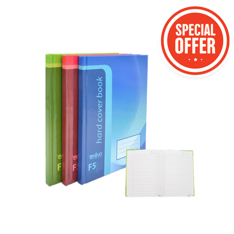 Enlivo A5 Hardcover Notebooks - Pack/3
