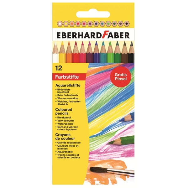 Eberhard Faber Watercolor Pencils - Set of 12