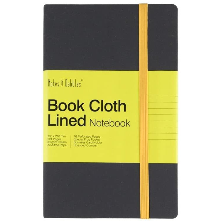 Notes & Dabbles Luna Cloth Lined Journal / A4