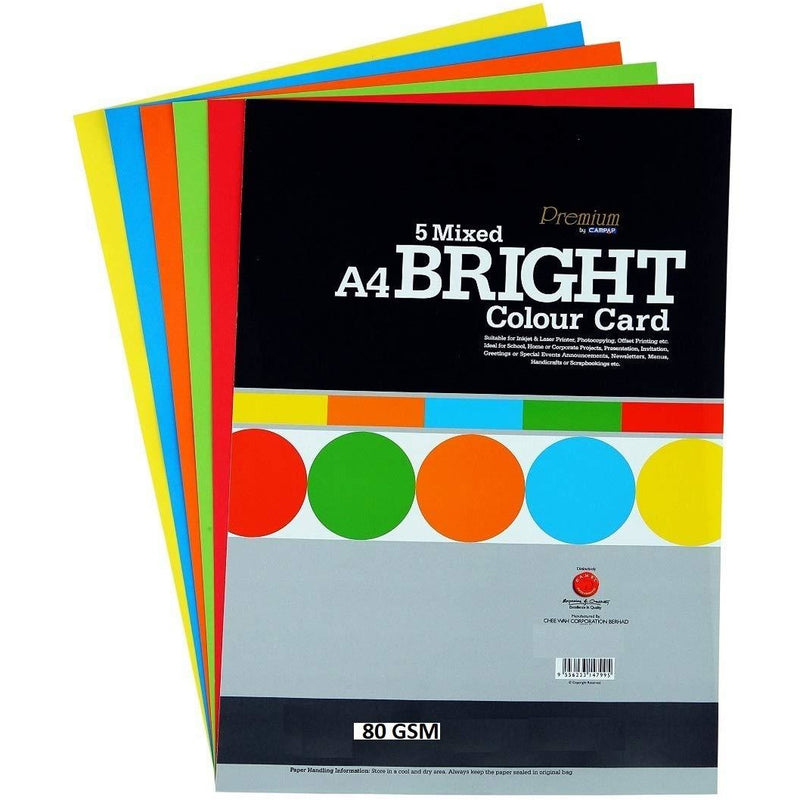 CampAp 5 Bright Color Paper 80 GSM - A4