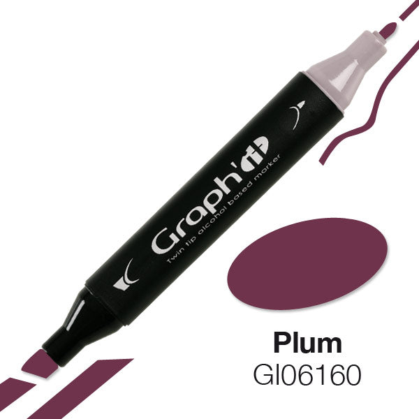 Graph It Twin Tip Marker - RED/VIOLET RANGE