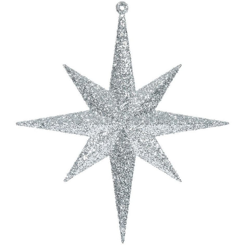 Vickerman Copper Glitter Bethlehem Star Christmas Tree Ornament - 4 Piece / 2 Colors