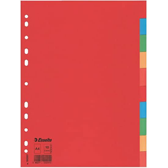 Esselte 10 Color Card Dividers