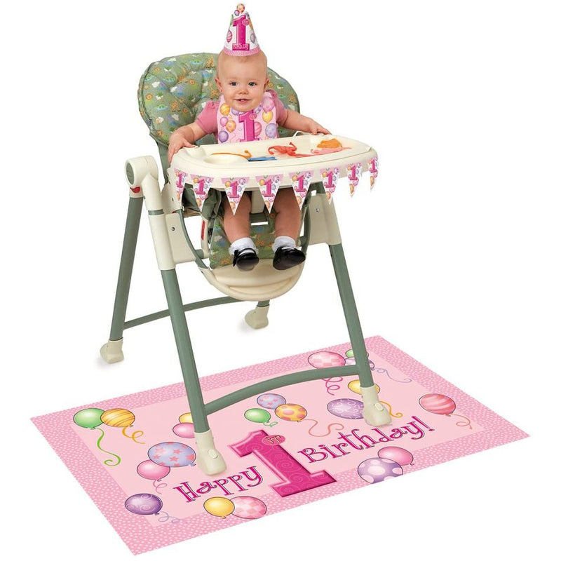 Unique High Chair 1st Birthday Kit - Baby Girl