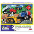 White Mountain Puzzle - Trucks and Tractors