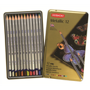 Derwent Metallic Coloring Pencils - Set of 12