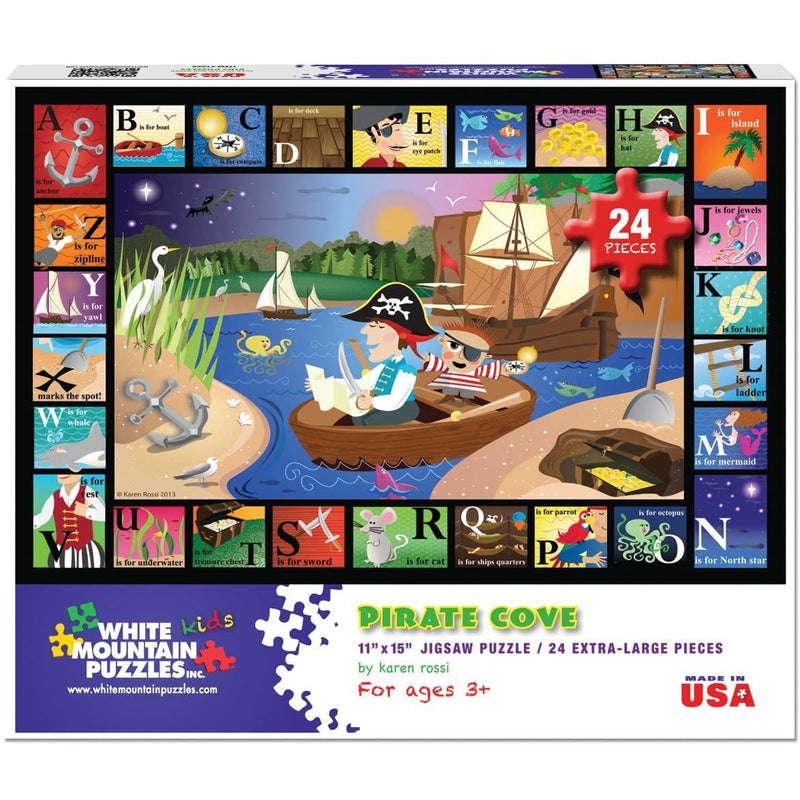 White Mountain Puzzle - ABC Pirate Cove