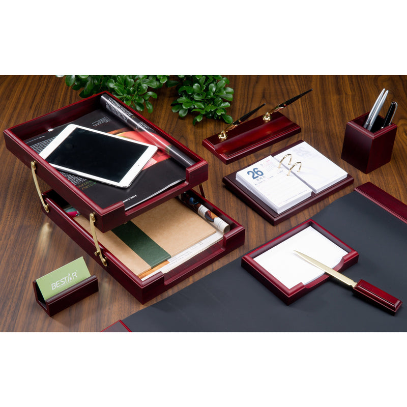 Bestar Solid Wood Desk Set - 8 pcs