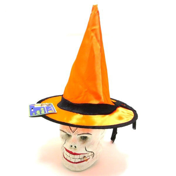 Satin Witch Hat - Orange