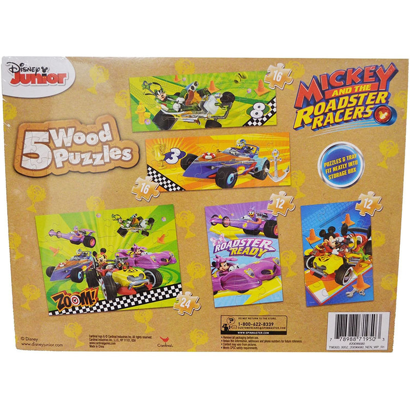 Cardinal Mickey Roadster Wooden Puzzle - 5-in-1