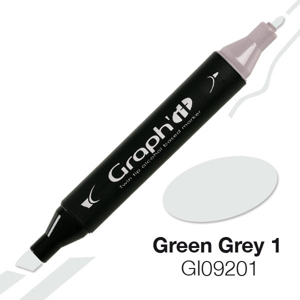 Graph It Twin Tip Marker - GREEN & PINK GREY RANGE