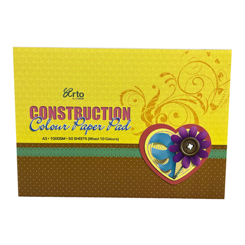 CampAp A3 Construction Paper Pad - 50 Sheets