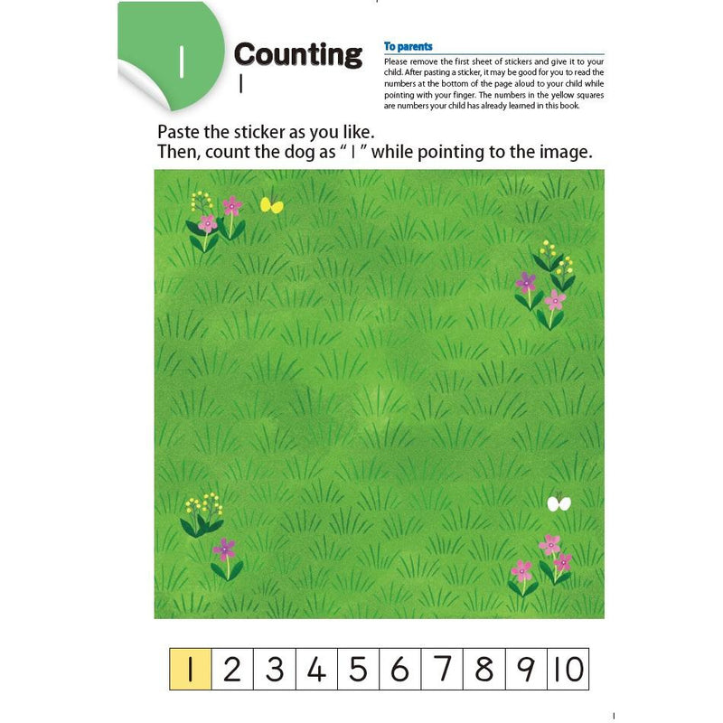 Counting With Stickers 1-10 (Ages 2+)
