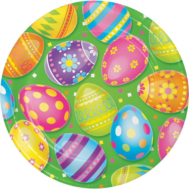 Unique Easter Plates 23cm - Pack of 8
