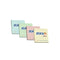 "Hopax Stick'n Notes 3"" x 3"" - Pack of 4 Colored"