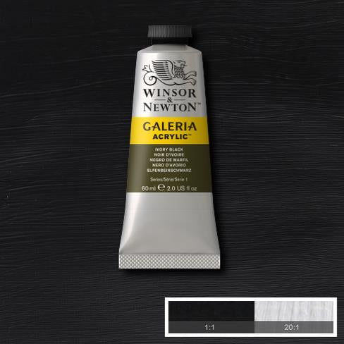 Winsor & Newton Acrylic Colors (60 ml) - Black Range